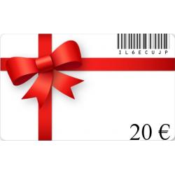 Carte cadeau anniversaire d'une valeur de 20€