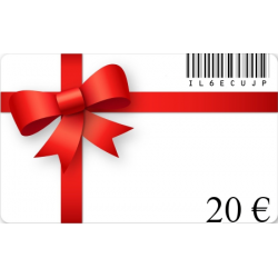 Tarjeta de regalo de cumpleaños de un valor de 20€