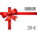Card birthday gift of a value of 20€