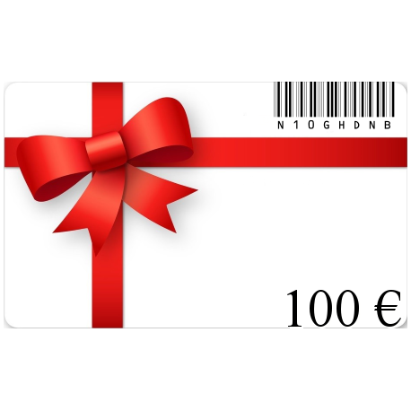 Card birthday gift of a value of€100