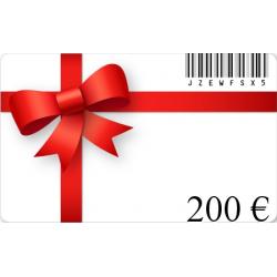Tarjeta de regalo de cumpleaños de un valor de€200