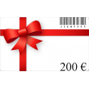 Card birthday gift of a value of€200