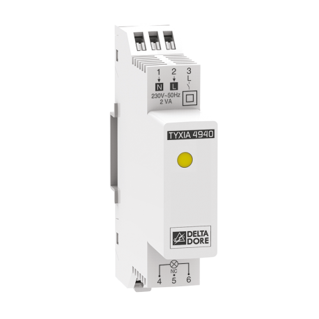 TYXIA 4940 - Receiver lighting dimmer DIN rail X3D