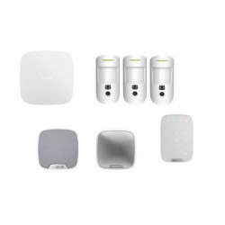 Alarme Ajax - Alarme Kit HUB 2 MotionCam sirène blanc