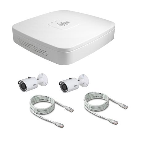 Pack video surveillance DAHUA IP 4 Megapixel camera with 2 cameras