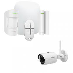 Allarme Ajax Starter Kit, HUB di Più - Allarme wireless con IP fotocamera da 4 Megapixel