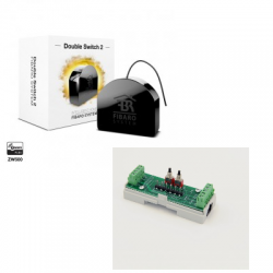 Fibaro FGS-223 - Fibaro módulo de doble interruptor Z-Wave Plus en riel DIN