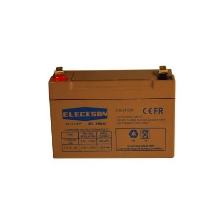 Eleckson - Batterie 4V 3.5 Ah BAC V0