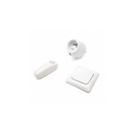 SWIID SwiidPack Normal, switch white square and socket type E (French)