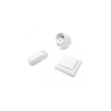 SWIID SwiidPack Normale, interruttore quadrato bianco e una presa di tipo E (francese)