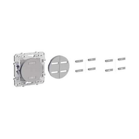 SCHNEIDER - Conmutador de radio inalámbrica de 2 o 4 botones DE encendido / APAGADO antracita ODACE
