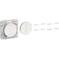 SCHNEIDER - Interruttore radio wireless 2 o 4 tasti ON / OFF speciale ristrutturazione bianco ODACE