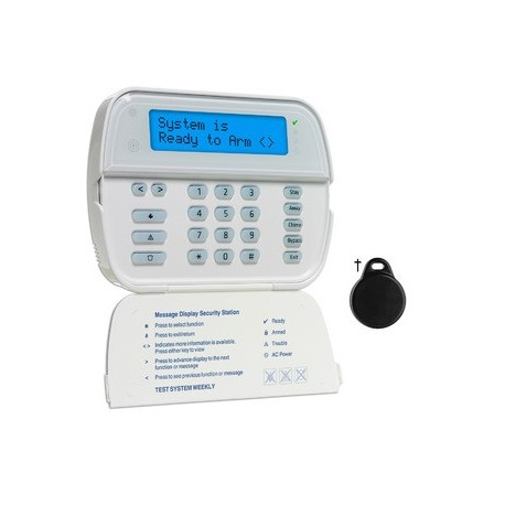 Keyboard radio LCD screen badge reader DSC WT5500P
